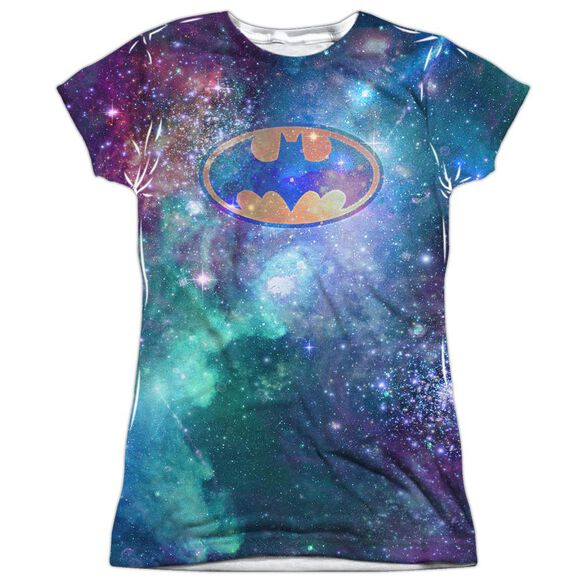 Batman Galaxy Symbol Short Sleeve Junior Poly Crew T-Shirt