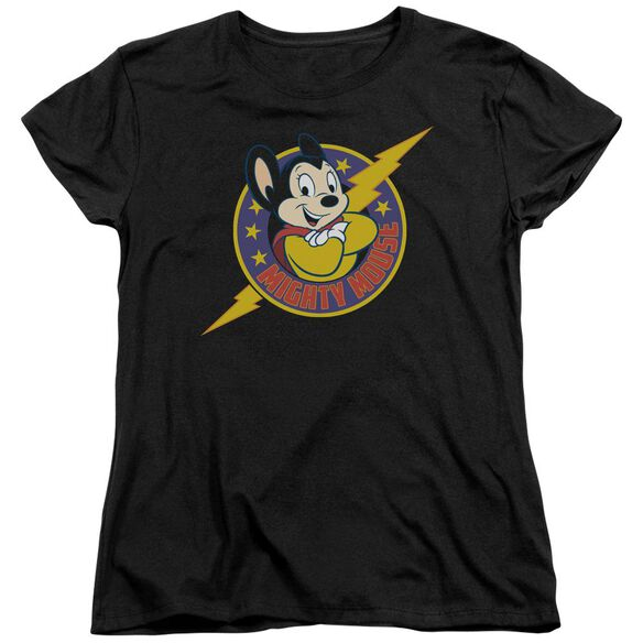 Mighty Mouse Mighty Hero Short Sleeve Womens Tee T-Shirt