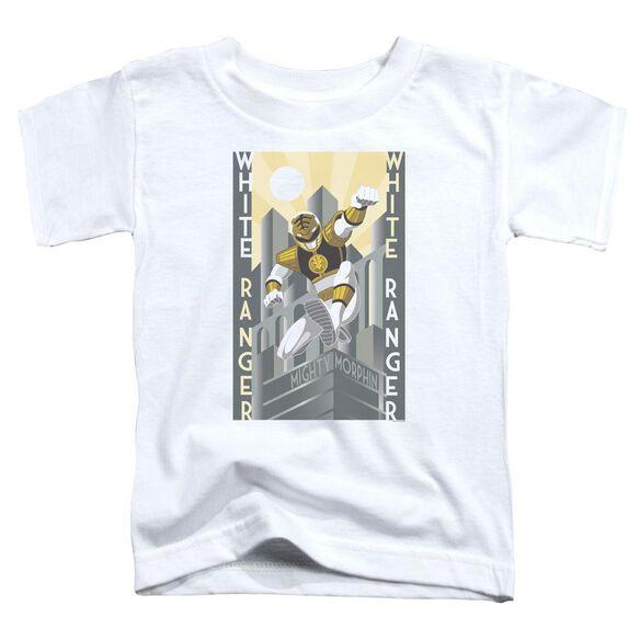 Power Rangers White Ranger Duo Short Sleeve Toddler Tee White T-Shirt