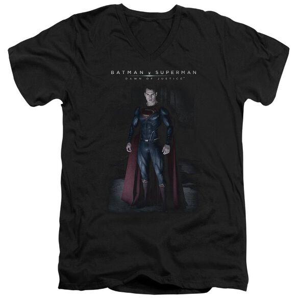 Batman V Superman Stand Tall Short Sleeve Adult V Neck T-Shirt