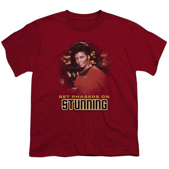 STAR TREK STUNNING - S/S YOUTH 18/1 - CARDINAL T-Shirt