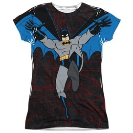 Batman The Animated Series Cave Leap Short Sleeve Junior Poly Crew T-Shirt