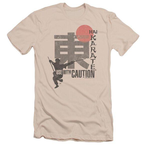 Hai Karate Caution Short Sleeve Adult T-Shirt