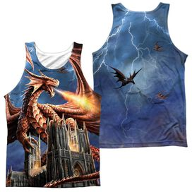 Anne Stokes Dragons Fury (Front Back Print) Adult 100% Poly Tank Top