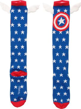 Captain America Stars Wings Knee High Socks