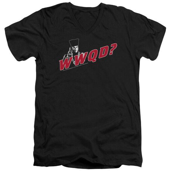 Star Trek Wwqd Short Sleeve Adult V Neck T-Shirt