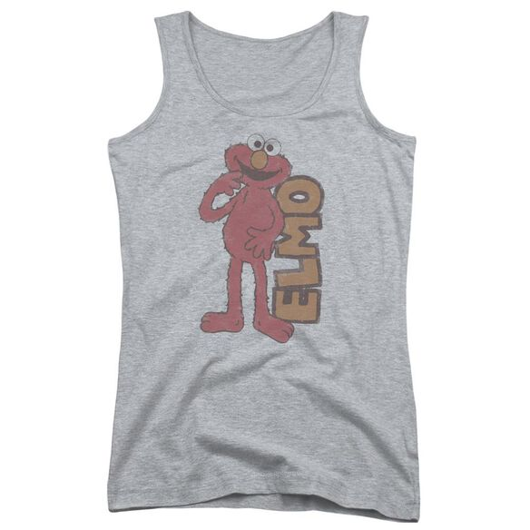 Sesame Street Vintage Elmo Juniors Tank Top Athletic