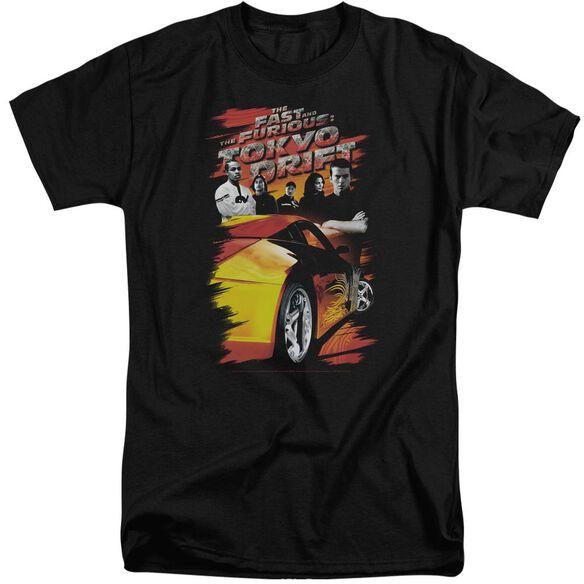 Tokyo Drift Drifting Crew Short Sleeve Adult Tall T-Shirt