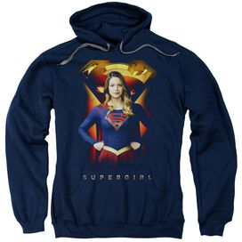 Supergirl Standing Symbol Adult Pull Over Hoodie