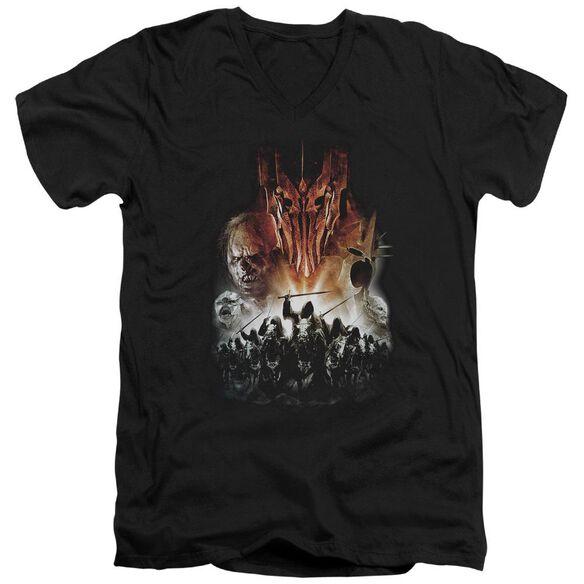 Lor Evil Rising Short Sleeve Adult V Neck T-Shirt
