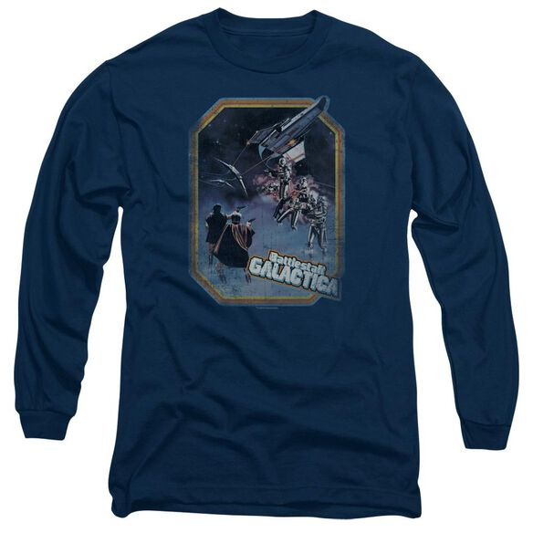 BSG POSTER IRON ON - L/S ADULT 18/1 - NAVY T-Shirt