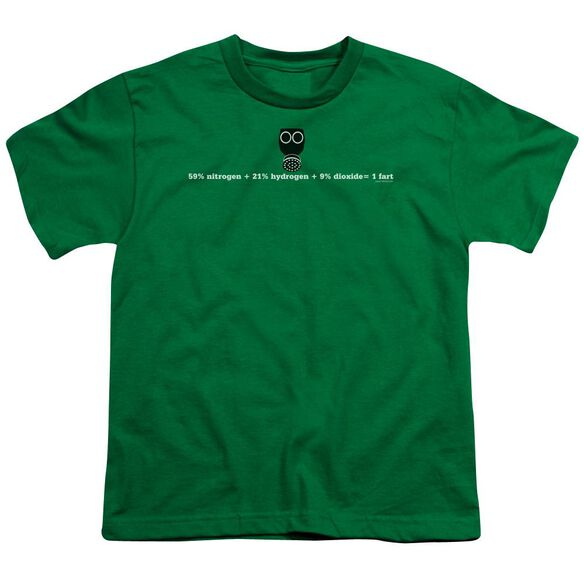 Equals One Fart Short Sleeve Youth Kelly T-Shirt
