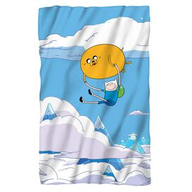 Adventure Time Balloon Fleece Blanket White
