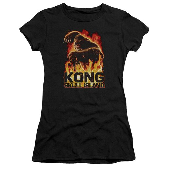 Kong Skull Island Out Of The Fire Hbo Short Sleeve Junior Sheer T-Shirt