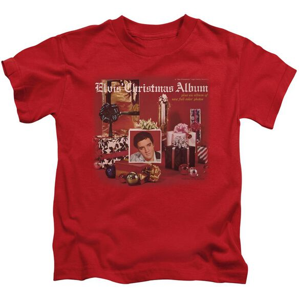 Elvis Christmas Album Short Sleeve Juvenile Red T-Shirt