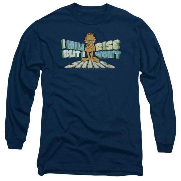 GARFIELD RISE NOT SHINE - L/S ADULT 18/1 - NAVY T-Shirt