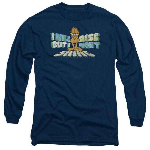 GARFIELD RISE NOT SHINE - L/S ADULT 18/1 - NAVY T-Shirt