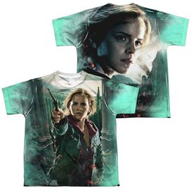 Harry Potter Hermione Final Battle (Front Back Print) Short Sleeve Youth Poly Crew T-Shirt