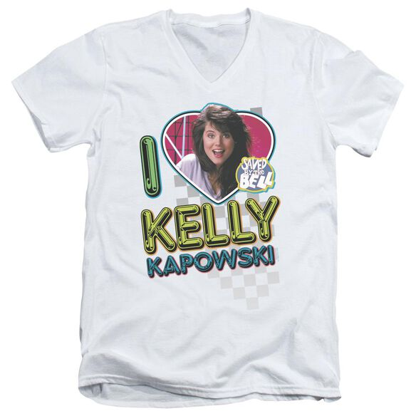 Saved By The Bell I Love Kelly Short Sleeve Adult V Neck T-Shirt