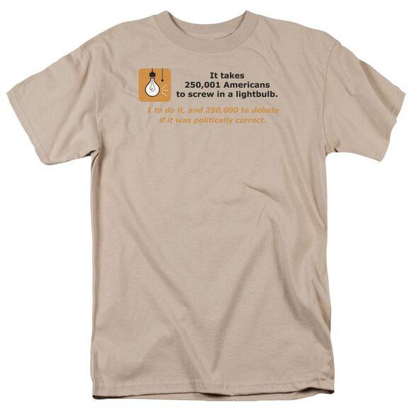 American Lightbulb Short Sleeve Adult Sand T-Shirt