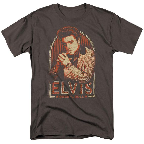 Elvis Stripes Short Sleeve Adult T-Shirt