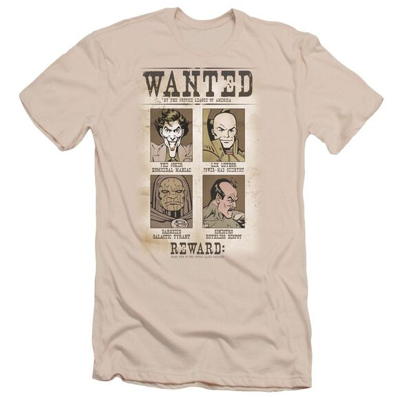 Dc Wanted Poster Short Sleeve Adult T-Shirt