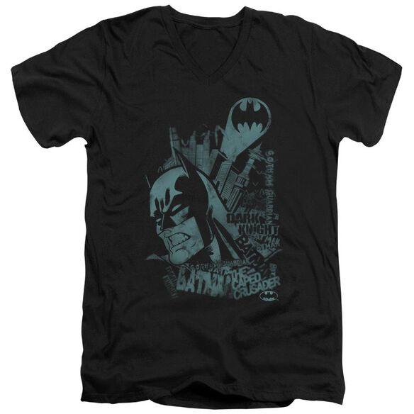 Batman Gritted Teeth Short Sleeve Adult V Neck T-Shirt