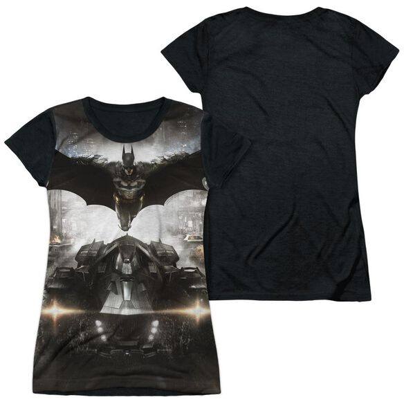Batman Arkham Knight Poster Short Sleeve Junior Poly Black Back T-Shirt