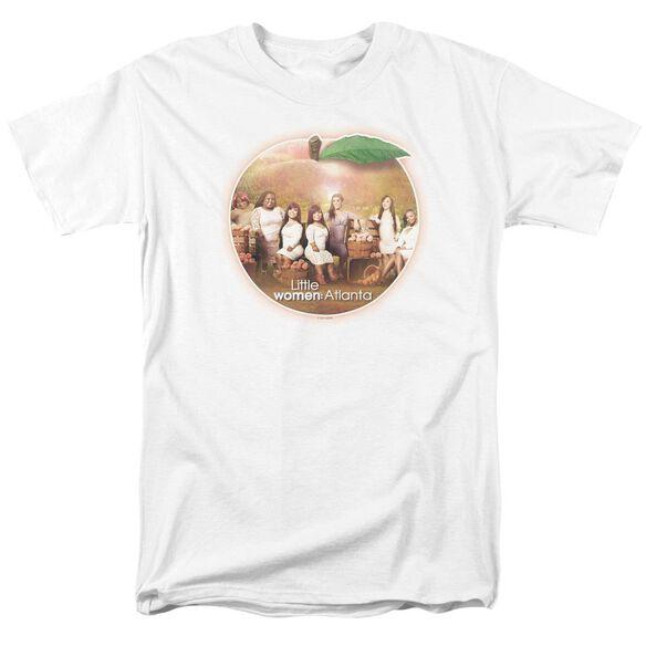 Little Women Atlanta Peach Pie Short Sleeve Adult White T-Shirt