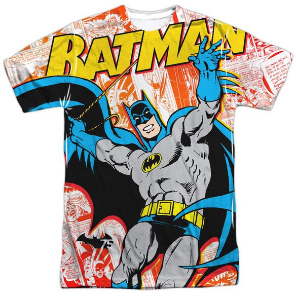 Batman 75 Panels Short Sleeve Adult Poly Crew T-Shirt