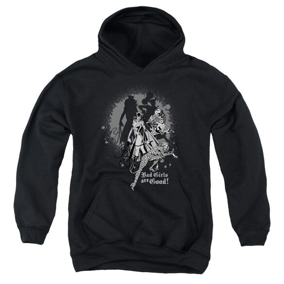 Dc Bad Girls Are Good-youth Pull-over Hoodie - Black