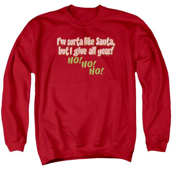 Sorta Like Santa Adult Crewneck Sweatshirt