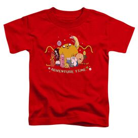 Adventure Time Outstretched Short Sleeve Toddler Tee Red T-Shirt