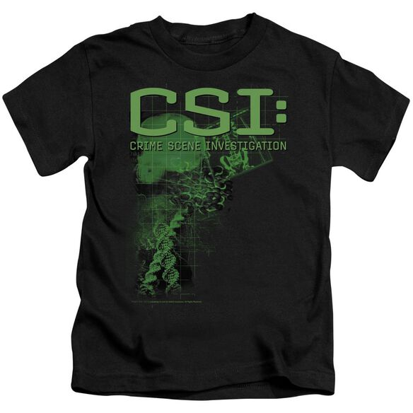 Csi Evidence Short Sleeve Juvenile Black T-Shirt