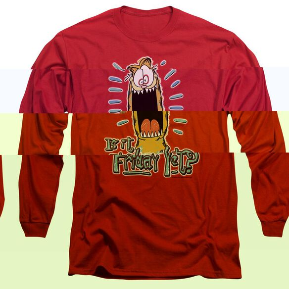 GARFIELD FRIDAY - L/S ADULT 18/1 - RED T-Shirt