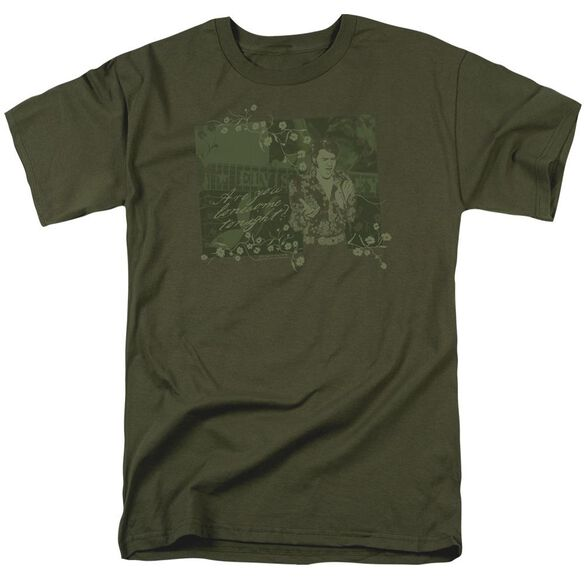 Elvis That 70 S Elvis Short Sleeve Adult Military Green T-Shirt