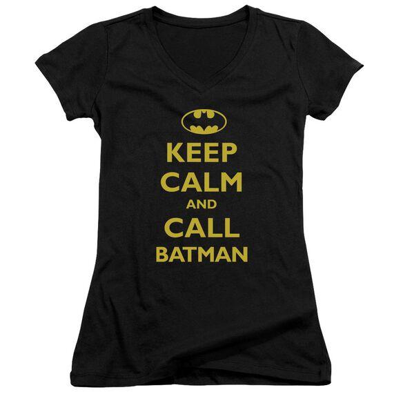 Batman Call Batman - Junior V-neck - Black
