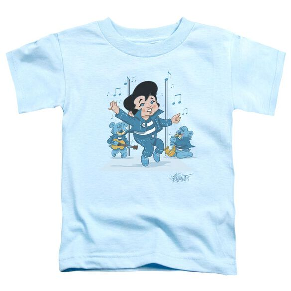 Elvis Jailhouse Rocker Short Sleeve Toddler Tee Light Blue Lg T-Shirt