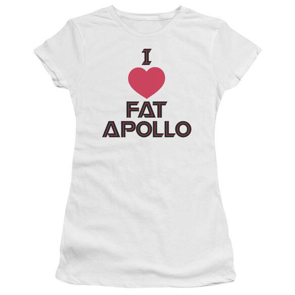 BSG I HEART FAT APOLLO - S/S JUNIOR SHEER - WHITE T-Shirt