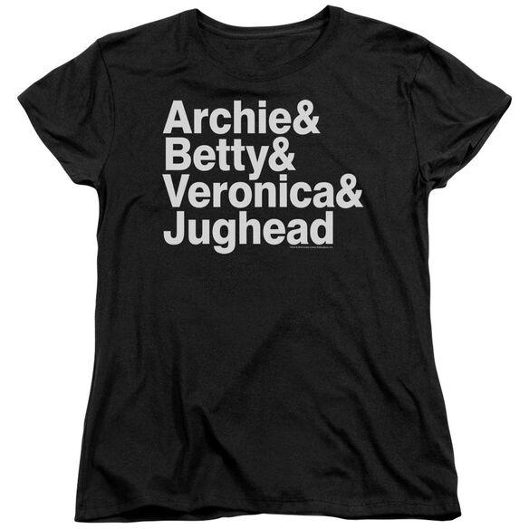 Archie Comics Ampersand List Short Sleeve Womens Tee T-Shirt