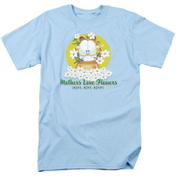 GARFIELD MOTHERS LOVE FLOWERS - S/S ADULT 18/1 - LIGHT BLUE T-Shirt