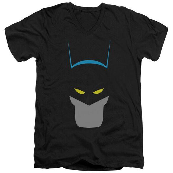 Batman Simplified Short Sleeve Adult V Neck T-Shirt