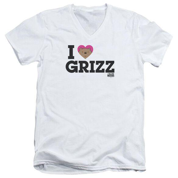 We Bare Bears Heart Grizz Short Sleeve Adult V Neck T-Shirt
