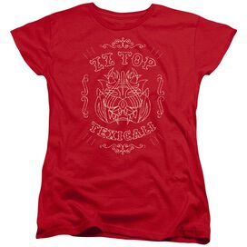 Zz Top Texicali Demon Short Sleeve Womens Tee T-Shirt