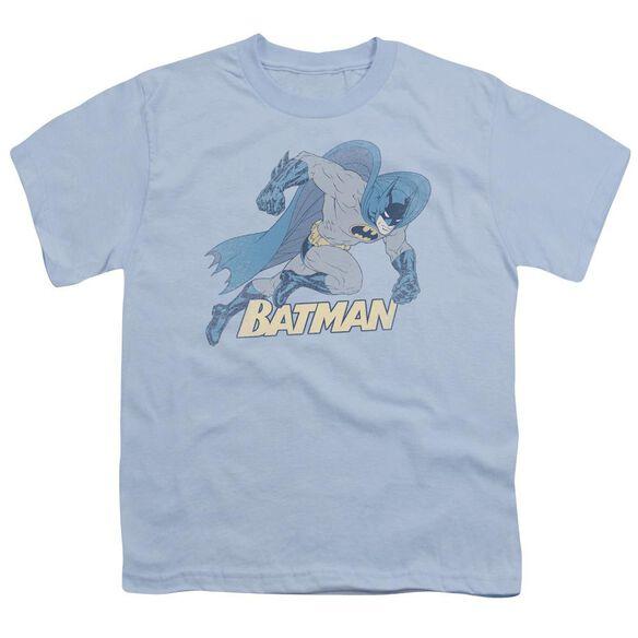 Batman Running Retro Short Sleeve Youth Light T-Shirt