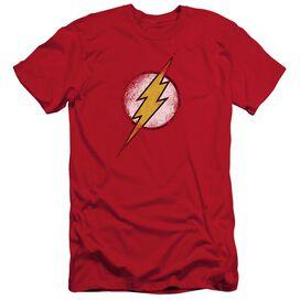JLA DESTROYED FLASH LOGO - S/S ADULT 30/1 - RED T-Shirt