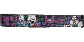 Joker Head Laugh Collage Seatbelt Mesh Belt