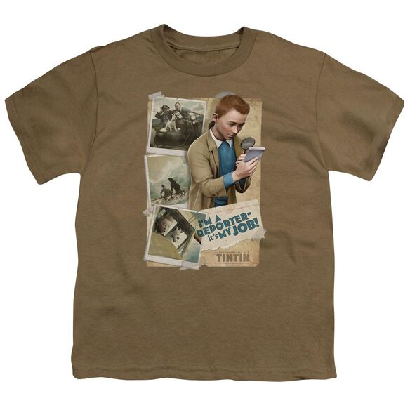Tintin I'm A Reporter Short Sleeve Youth Safari T-Shirt