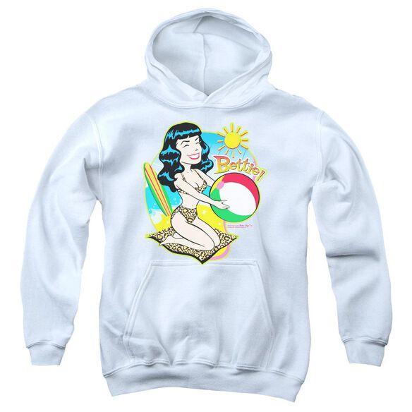 Bettie Page Beach Bettie Youth Pull Over Hoodie
