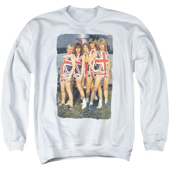 Def Leppard Flag Photo Adult Crewneck Sweatshirt